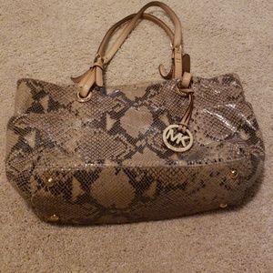 Michael Kors leather purse snake pattern